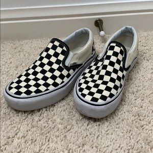 Platform vans slip on sneakers